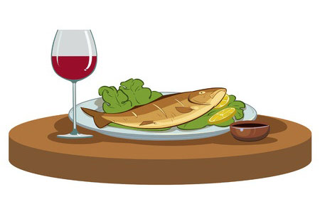 Federal wine spirits articles for Red wine with fish